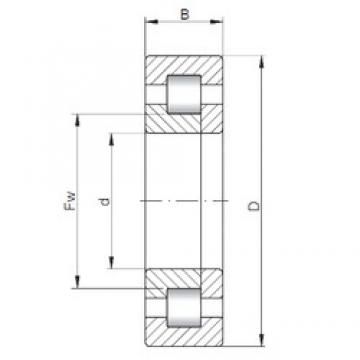 75 mm x 160 mm x 68,3 mm  ISO NUP3315 cylindrical roller bearings