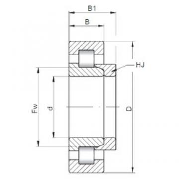 65 mm x 120 mm x 23 mm  ISO NH213 cylindrical roller bearings